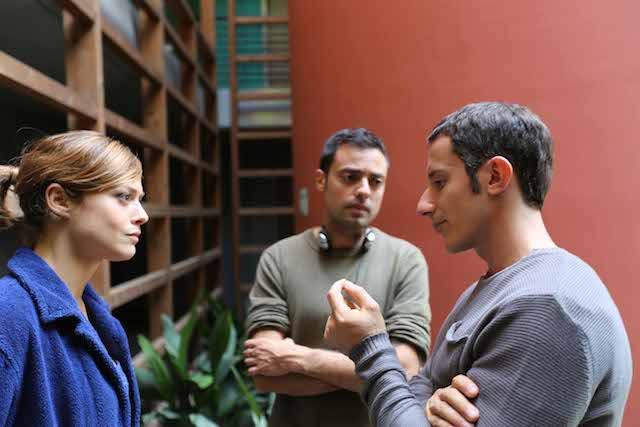 _Monitor_ di Alessio Lauria - il regista con gli attori Michele Alhaique e Valeria Bilello xs