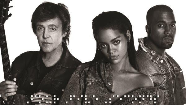 Rihanna_K West_P McCartney_Cover singolo_FourFiveS_m